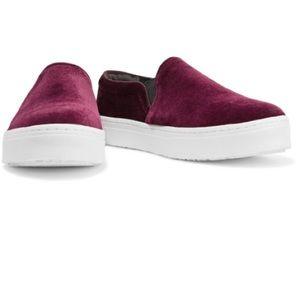 💥NIB💥Sam Edelman Lacey Velvet Platform Sneakers